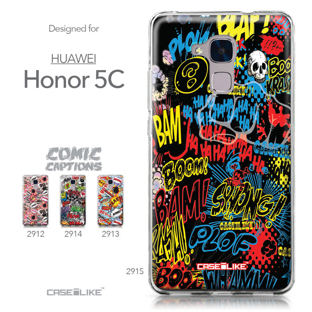 Huawei Honor 5C / Honor 7 Lite / GT3 case Comic Captions Black 2915 Collection | CASEiLIKE.com