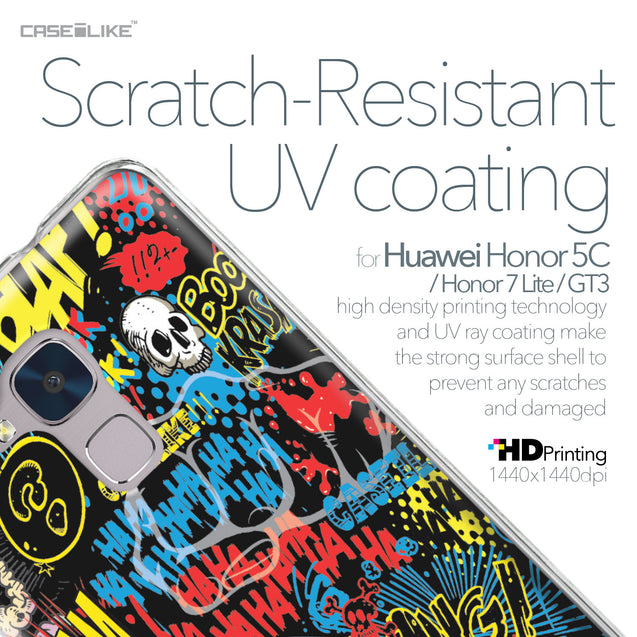 Huawei Honor 5C / Honor 7 Lite / GT3 case Comic Captions Black 2915 with UV-Coating Scratch-Resistant Case | CASEiLIKE.com