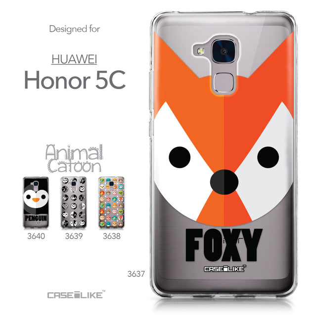Huawei Honor 5C / Honor 7 Lite / GT3 case Animal Cartoon 3637 Collection | CASEiLIKE.com