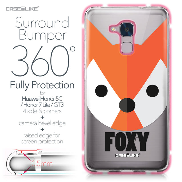 Huawei Honor 5C / Honor 7 Lite / GT3 case Animal Cartoon 3637 Bumper Case Protection | CASEiLIKE.com