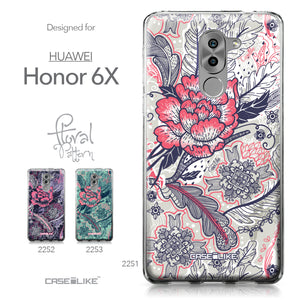 Huawei Honor 6X / Mate 9 Lite / GR5 2017 case Vintage Roses and Feathers Beige 2251 Collection | CASEiLIKE.com