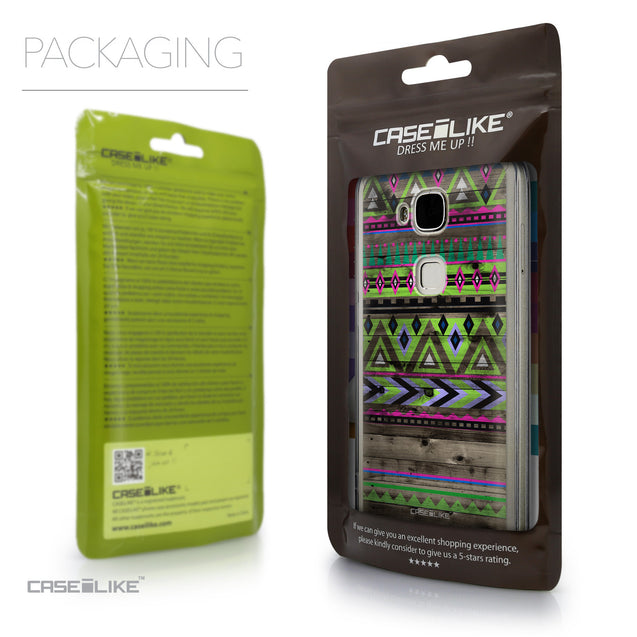 Packaging - CASEiLIKE Huawei G7 Plus back cover Indian Tribal Theme Pattern 2049