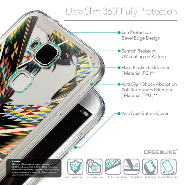 Details in English - CASEiLIKE Huawei G7 Plus back cover Indian Tribal Theme Pattern 2053