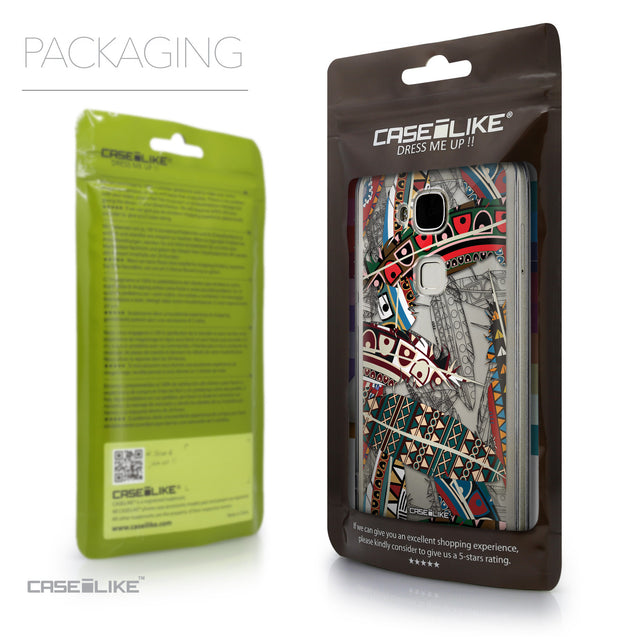 Packaging - CASEiLIKE Huawei G7 Plus back cover Indian Tribal Theme Pattern 2055