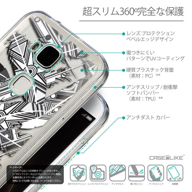 Details in Japanese - CASEiLIKE Huawei G7 Plus back cover Indian Tribal Theme Pattern 2056