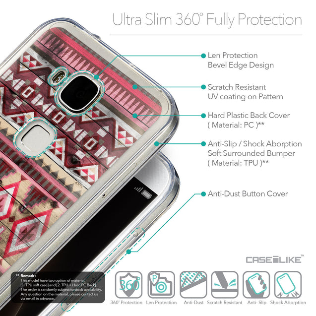 Details in English - CASEiLIKE Huawei G7 Plus back cover Indian Tribal Theme Pattern 2057