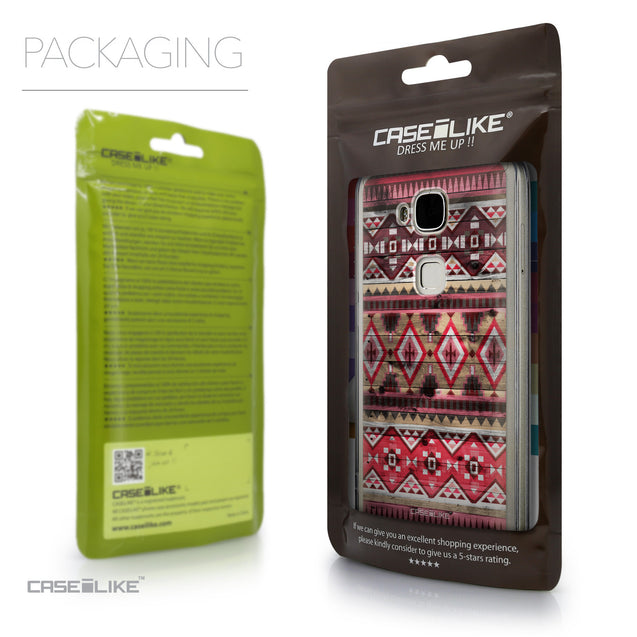 Packaging - CASEiLIKE Huawei G7 Plus back cover Indian Tribal Theme Pattern 2057