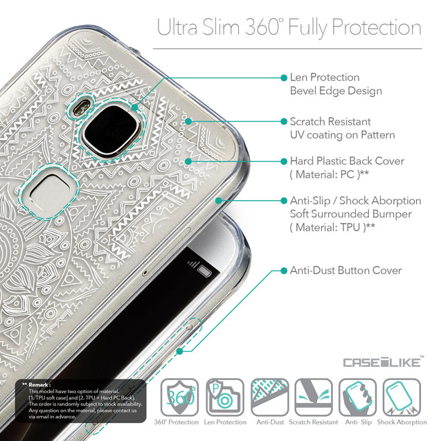 Details in English - CASEiLIKE Huawei G7 Plus back cover Indian Line Art 2061
