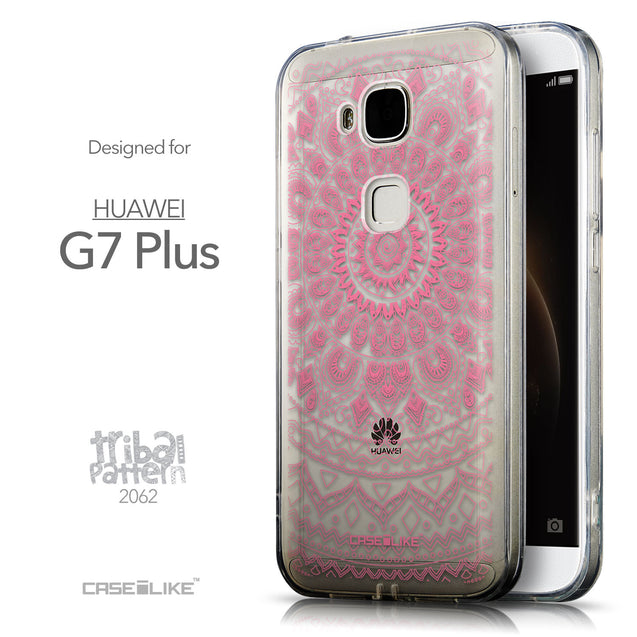 Front & Side View - CASEiLIKE Huawei G7 Plus back cover Indian Line Art 2062