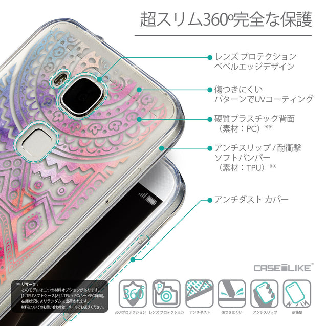 Details in Japanese - CASEiLIKE Huawei G7 Plus back cover Indian Line Art 2065