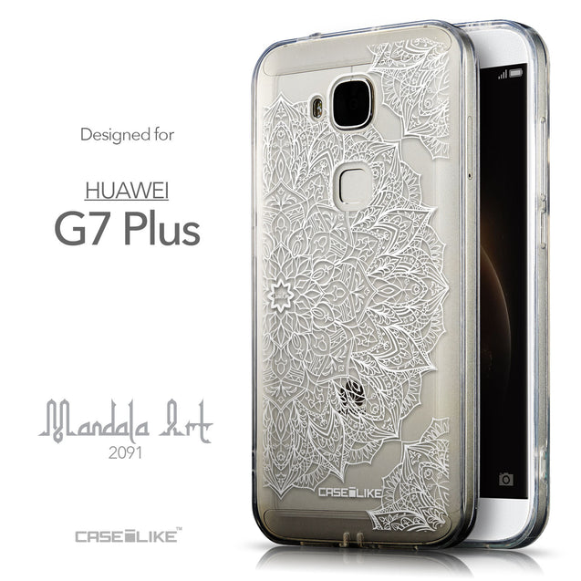 Front & Side View - CASEiLIKE Huawei G7 Plus back cover Mandala Art 2091