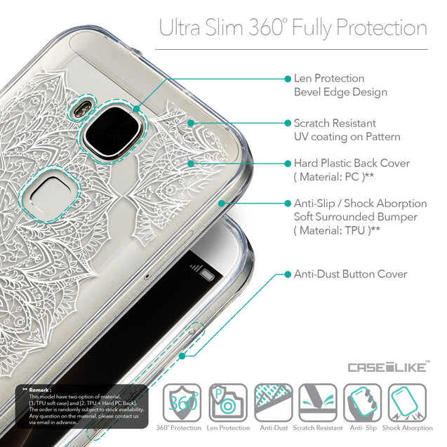 Details in English - CASEiLIKE Huawei G7 Plus back cover Mandala Art 2091