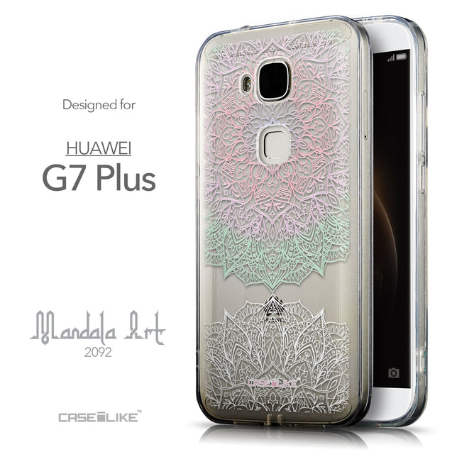 Front & Side View - CASEiLIKE Huawei G7 Plus back cover Mandala Art 2092