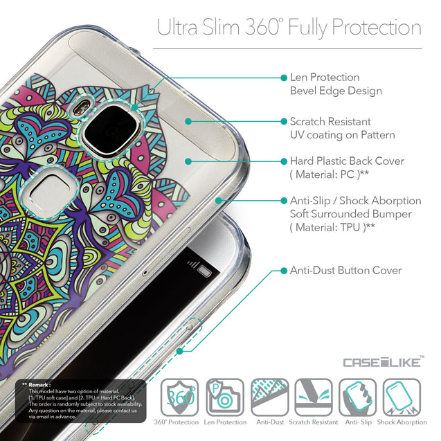 Details in English - CASEiLIKE Huawei G7 Plus back cover Mandala Art 2094