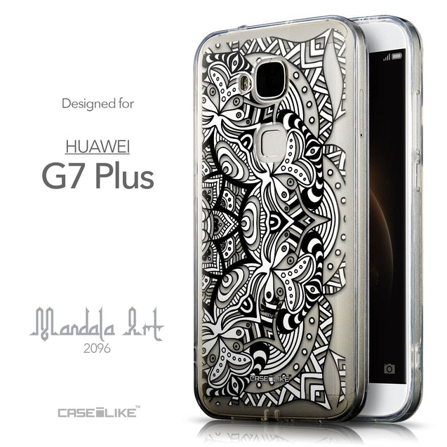 Front & Side View - CASEiLIKE Huawei G7 Plus back cover Mandala Art 2096