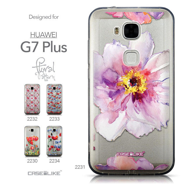 Collection - CASEiLIKE Huawei G7 Plus back cover Watercolor Floral 2231