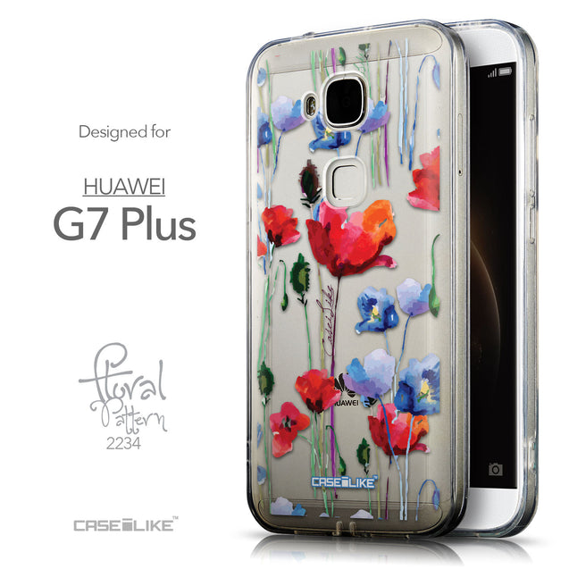 Front & Side View - CASEiLIKE Huawei G7 Plus back cover Indian Line Art 2061