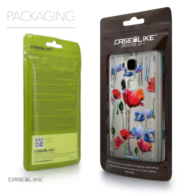 Packaging - CASEiLIKE Huawei G7 Plus back cover Indian Line Art 2061