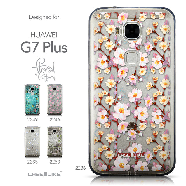 Collection - CASEiLIKE Huawei G7 Plus back cover Watercolor Floral 2236