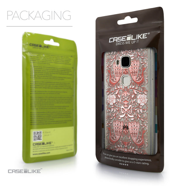 Packaging - CASEiLIKE Huawei G7 Plus back cover Roses Ornamental Skulls Peacocks 2237