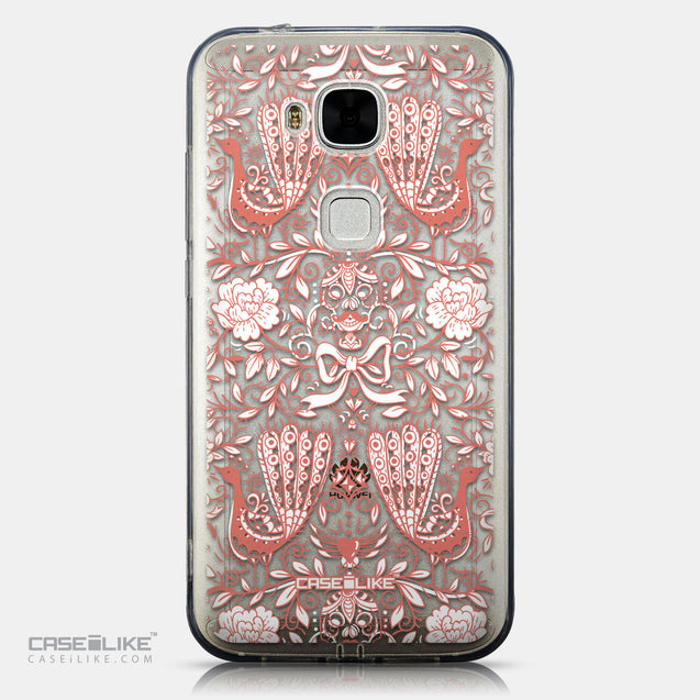 CASEiLIKE Huawei G7 Plus back cover Roses Ornamental Skulls Peacocks 2237