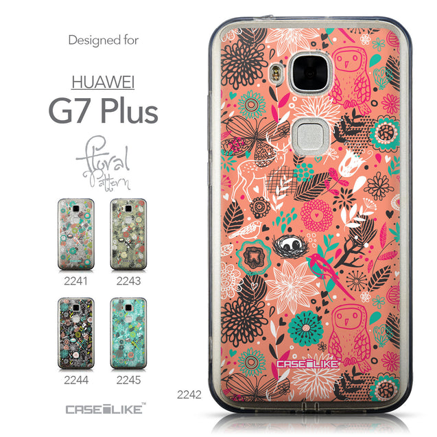 Collection - CASEiLIKE Huawei G7 Plus back cover Spring Forest Pink 2242