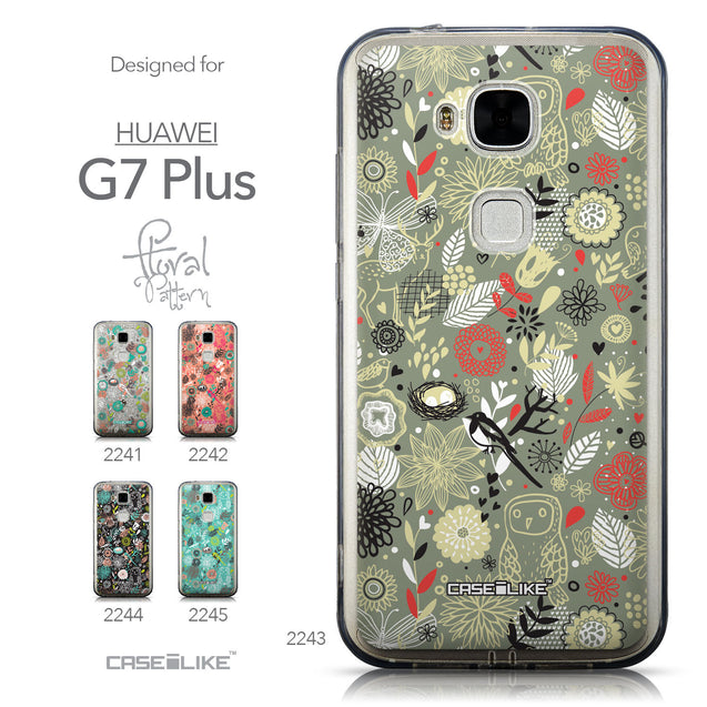 Collection - CASEiLIKE Huawei G7 Plus back cover Spring Forest Gray 2243