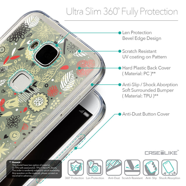 Details in English - CASEiLIKE Huawei G7 Plus back cover Spring Forest Gray 2243