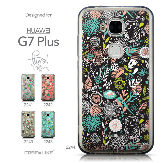 Collection - CASEiLIKE Huawei G7 Plus back cover Spring Forest Black 2244