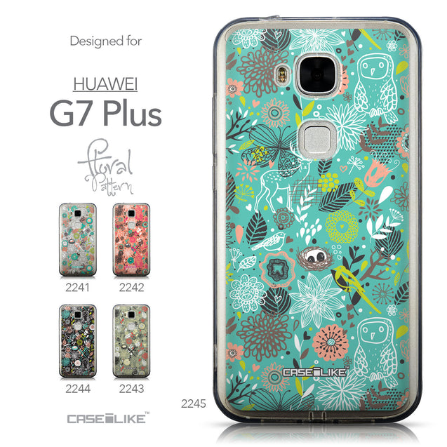 Collection - CASEiLIKE Huawei G7 Plus back cover Spring Forest Turquoise 2245