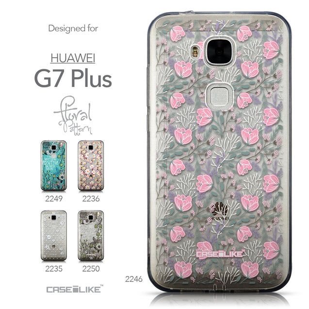 Collection - CASEiLIKE Huawei G7 Plus back cover Flowers Herbs 2246