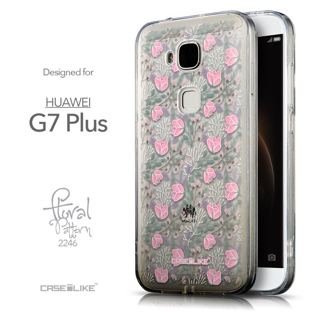 Front & Side View - CASEiLIKE Huawei G7 Plus back cover Flowers Herbs 2246