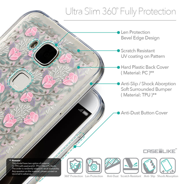 Details in English - CASEiLIKE Huawei G7 Plus back cover Flowers Herbs 2246