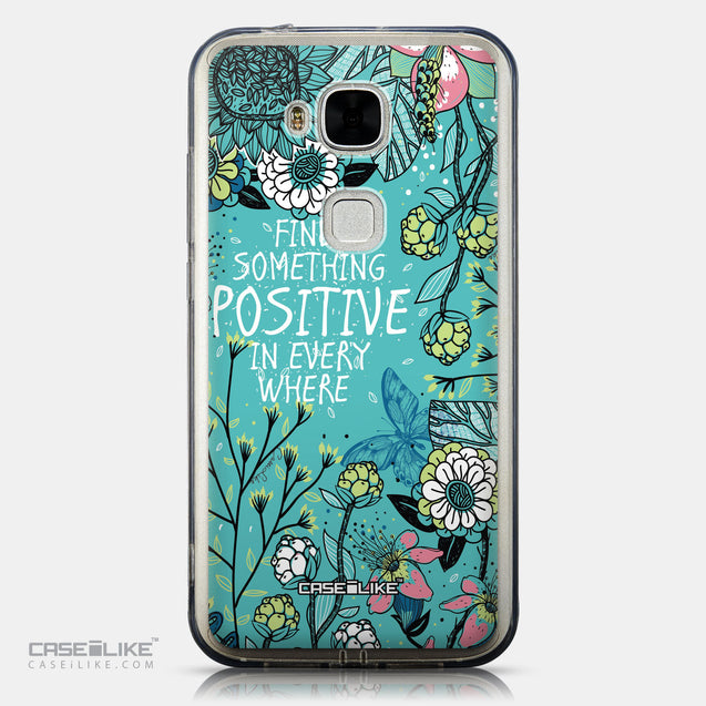CASEiLIKE Huawei G7 Plus back cover Blooming Flowers Turquoise 2249