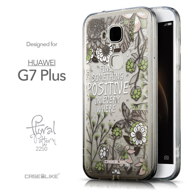 Front & Side View - CASEiLIKE Huawei G7 Plus back cover Blooming Flowers 2250