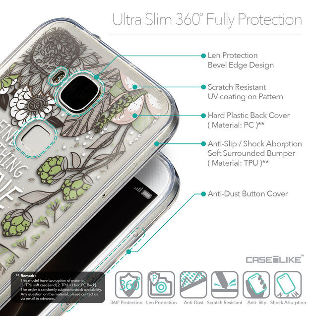 Details in English - CASEiLIKE Huawei G7 Plus back cover Blooming Flowers 2250