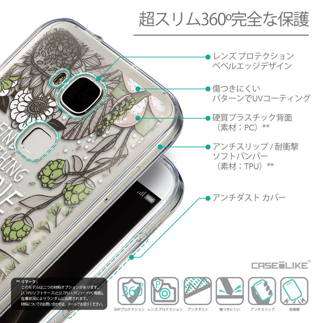 Details in Japanese - CASEiLIKE Huawei G7 Plus back cover Blooming Flowers 2250