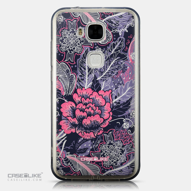CASEiLIKE Huawei G7 Plus back cover Vintage Roses and Feathers Blue 2252