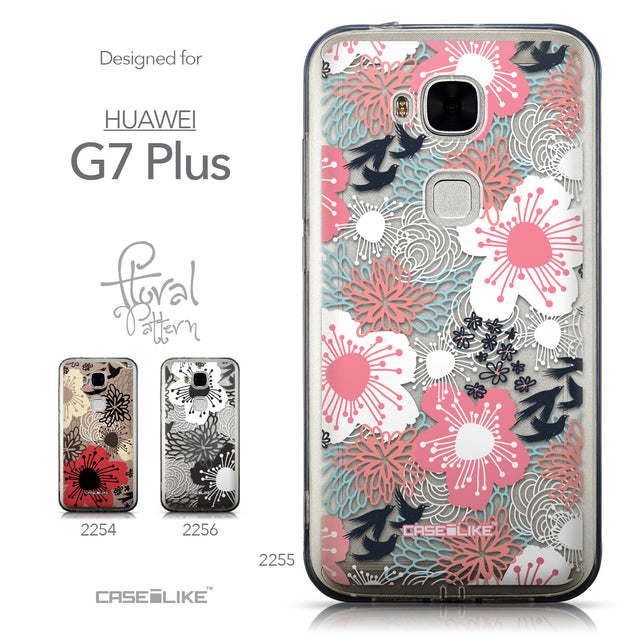 Collection - CASEiLIKE Huawei G7 Plus back cover Japanese Floral 2255