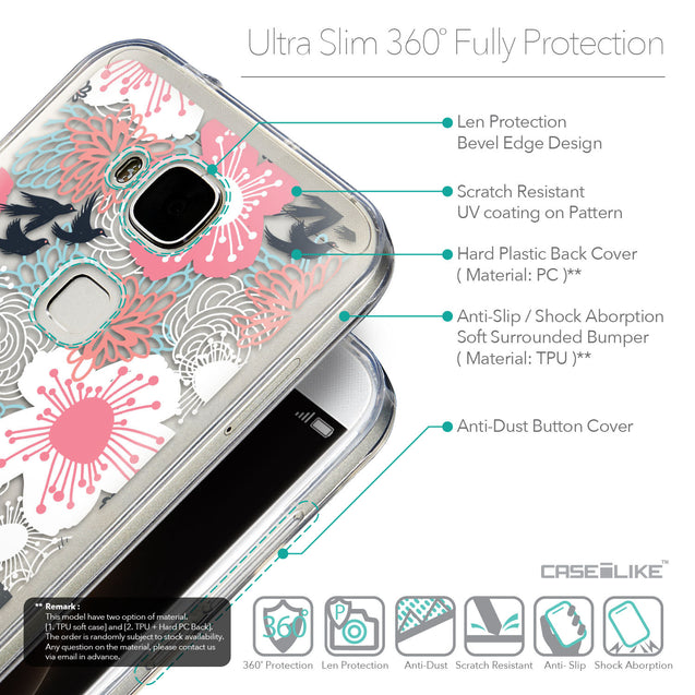 Details in English - CASEiLIKE Huawei G7 Plus back cover Japanese Floral 2255