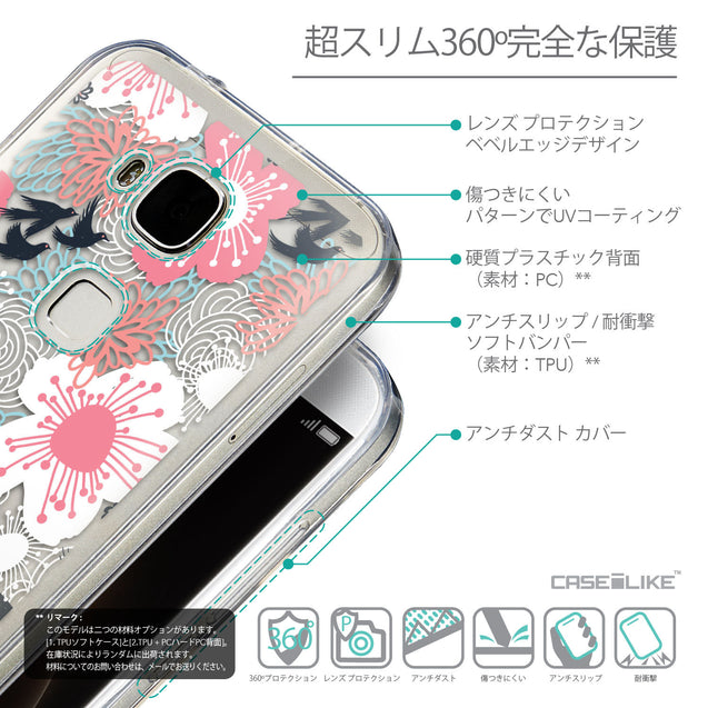 Details in Japanese - CASEiLIKE Huawei G7 Plus back cover Japanese Floral 2255