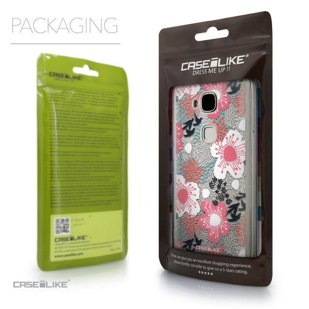 Packaging - CASEiLIKE Huawei G7 Plus back cover Japanese Floral 2255