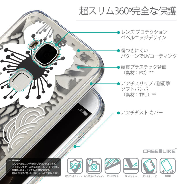 Details in Japanese - CASEiLIKE Huawei G7 Plus back cover Japanese Floral 2256