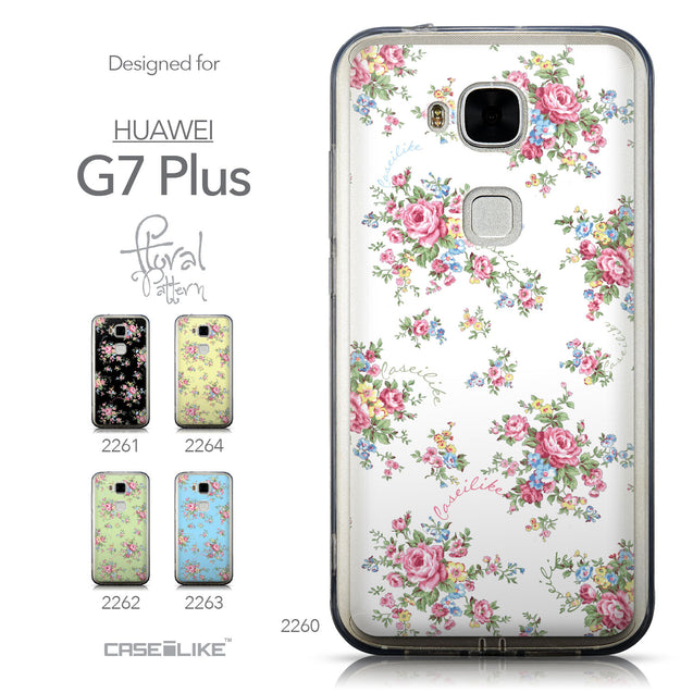 Collection - CASEiLIKE Huawei G7 Plus back cover Floral Rose Classic 2260