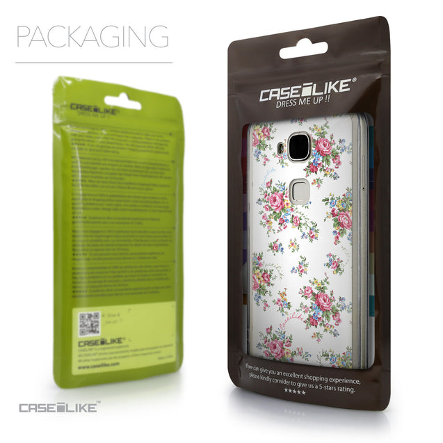 Packaging - CASEiLIKE Huawei G7 Plus back cover Floral Rose Classic 2260