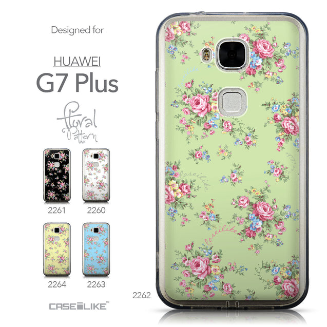 Collection - CASEiLIKE Huawei G7 Plus back cover Floral Rose Classic 2262