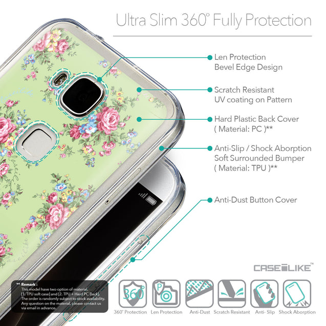 Details in English - CASEiLIKE Huawei G7 Plus back cover Floral Rose Classic 2262