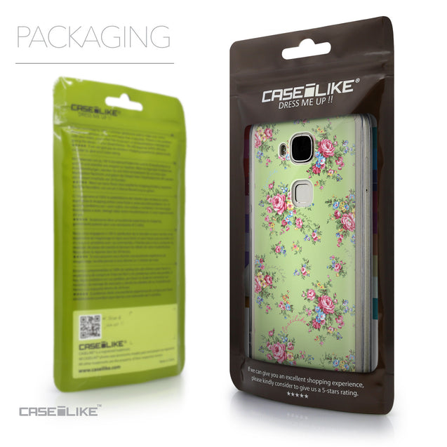 Packaging - CASEiLIKE Huawei G7 Plus back cover Floral Rose Classic 2262
