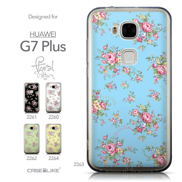 Collection - CASEiLIKE Huawei G7 Plus back cover Floral Rose Classic 2263