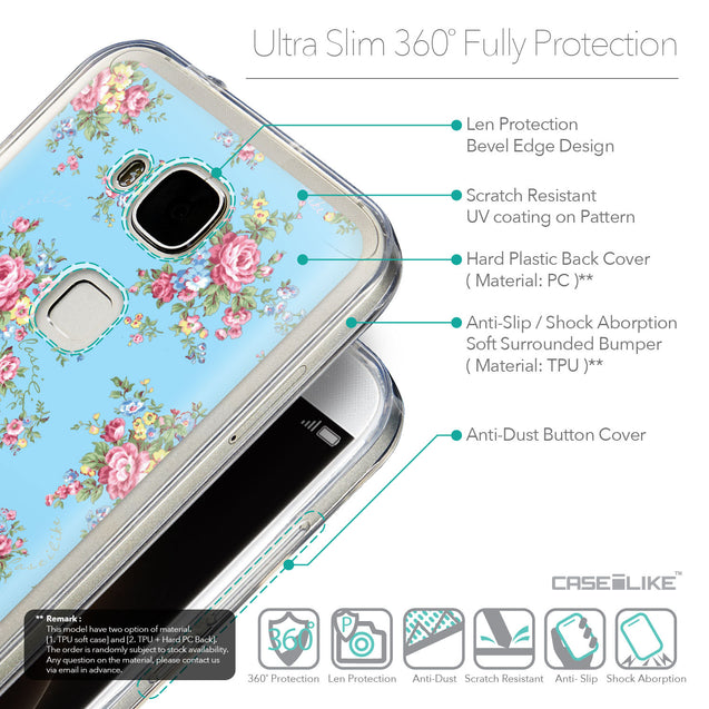 Details in English - CASEiLIKE Huawei G7 Plus back cover Floral Rose Classic 2263